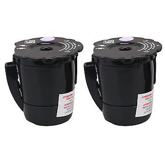 2PCS máquina de café filtro de apertura ancha negro para K200 para cafeteras