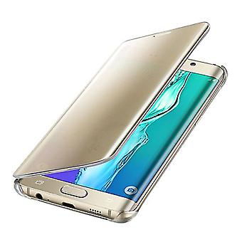 Samsung Original Clear View Cover Case for Galaxy S6 Edge Plus SM-G928F - Gold