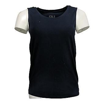 G.I.L.I. Got It Love It Women's Top XXS Sleeveless Curved Hem Blue A354269