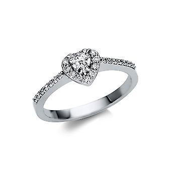 Luna Creation Promessa Ring Flera Sten Trim 1U162W853-1 - Ringbredd: 53