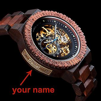 Men Wood Automatic Watch
