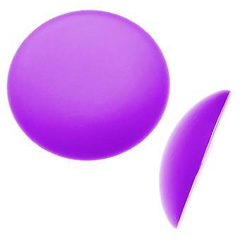 Beadsmith Lunasoft hehkuva Lucite Cabochon 24mm pyöreä - matta viinirypäle violetti (1)