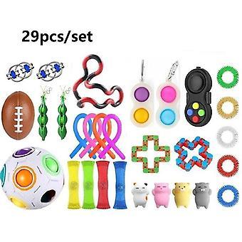 29pcs Pack Fidget Toys Sensory Toy Set Antistress Relief Fidget Toys