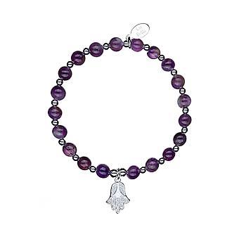 Hope &Strength Chunky Stacking Bracelet - 17.5cm - Violet - Cadeaux bijoux pour femmes de Lu Bella