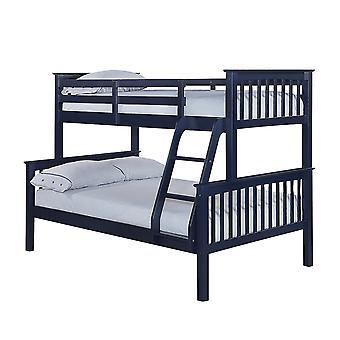 Orrin Trio Bunk Bed Navy