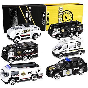Polizeiwagen Spielzeug Set, 6 Stk Mini Legierung Polizeiauto Modelle, Polizei Auto Toys Fahrzeuge