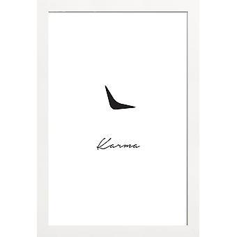 Juniqe Print - Karma - Tipografía & Cartel de símbolos en blanco y negro