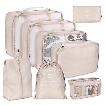 8 PCS Travel Storage Bag Set Travel Organizer Bag Case Shoes Packing Cube Bag|Foldable Storage Bags