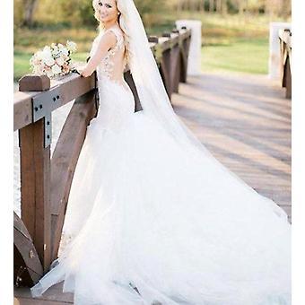 جديد كاتدرائية مانتيلا الزفاف الطويل الحجاب الزفاف