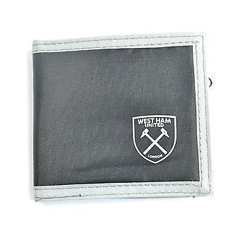 West Ham United Multi Pocket Zwart Canvas Crest Portemonnee