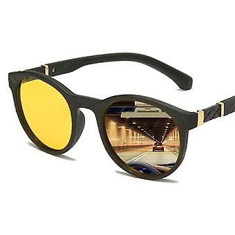 Unisex Yellow Lens Night Vision ochelari de soare de conducere