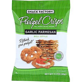 Snack Factory Pretzel Crisp Garlic Parm, Case of 24 X 1.5 Oz