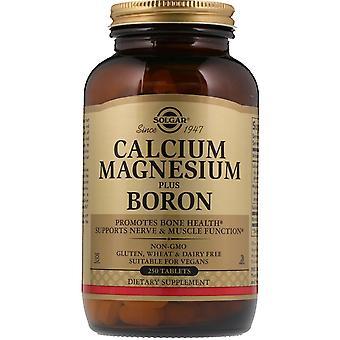 Solgar, calcium magnésium plus bore, 250 comprimés