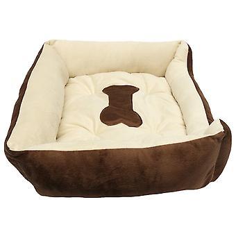 Stort kæledyr varm rede seng blød fleece hyggelig mat pad kennel pude