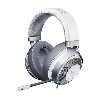 Razer Kraken Mercury, casque de jeu avec coussins d'oreille en gel de refroidissement pour les joueurs ambitieux, blanc