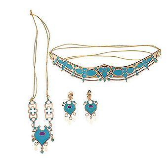 Prinzessin Krone Halskette Ohrringe Schmuck Set