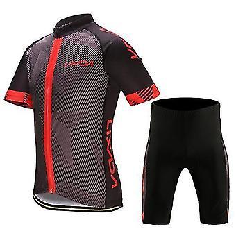 دراجة الدراجة القمصان الرجال ركوب الدراجات الملابس تعيين سريع الجافة قميص جيرسي قصيرة الأكمام قمم وسادة 3D مبطن ركوب السراويل القصيرة السراويل
