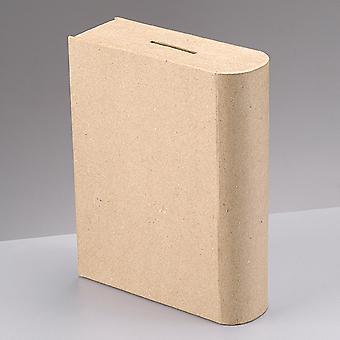 18 cm boek gevormde papier mache spaarpot om te versieren | Papier mache dozen