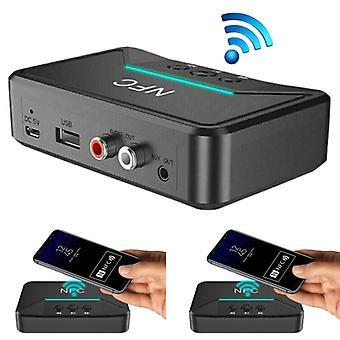 Langaton Bluetooth 5.0 -vastaanotin RCA aptX LL NFC 3,5mm Jack Aux USB Audio Adapter
