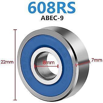 10Pcs doppelt geschirmte Miniatur High-Kohlenstoffstahl einreihig 608zz abec-7 tiefe Rillenkugellager 8 * 22 * 7 8x22x7 mm 608 zz