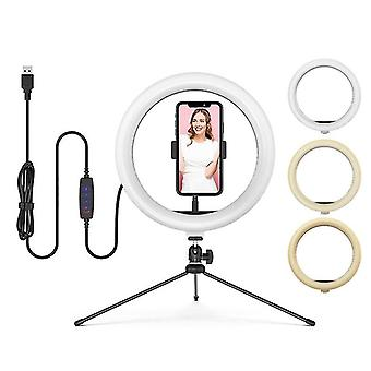 Dimmable Led Bluetooth Selfie Ring Light cu suport trepied