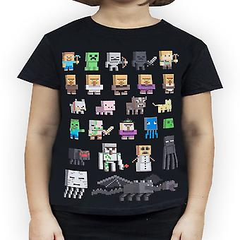Minecraft Jenter Sprites T-skjorte