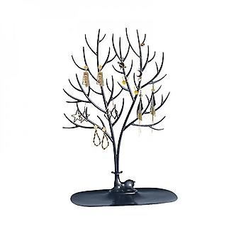Forest Antlers Tree Shaped Creative Jewelry Box Earring Holder Necklace Bracelet Earring Storage Box Jewelry Holder-black