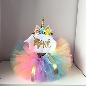 Princesse Licorne Robe d'anniversaire Gâteau Smash Tenue
