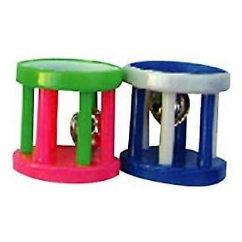 AE Cage Company Happy Beaks Small Barrel Foot Toy for Birds  - 48 count