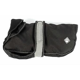 Dog apparel 2 in 1 black dog coat 35cm 14''