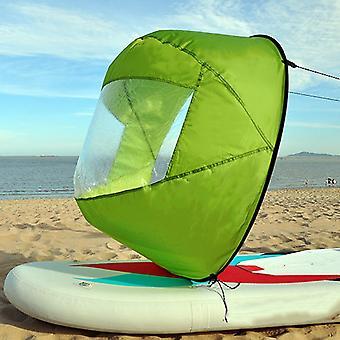 """Lätt bärbar 42"""" kajak roddbåt vikbar vind segel med klart fönster"""