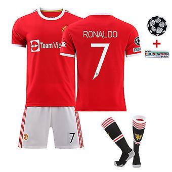 Cristiano Ronaldo Camiseta manchester United Casa No. 7, Uefa Champions League (tamaño adulto