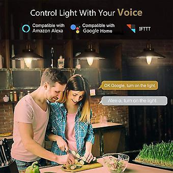 Wifi Smart Bulb Rgb + W + C Led Candle Bulb 5w E14 Dimbare mobiele telefoon App Smartlife / Tuya Afstandsbediening Compatibel met Alexa