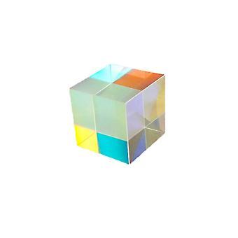 Interesante prisma de seis caras de combinación brillante prisma óptico cúbico a través de color de haz de vidrio Prisma