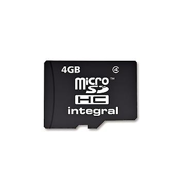 Integraal Micro SDHC Media geheugenkaart met SD adapter capaciteit 4GB (MICROSD4GB)