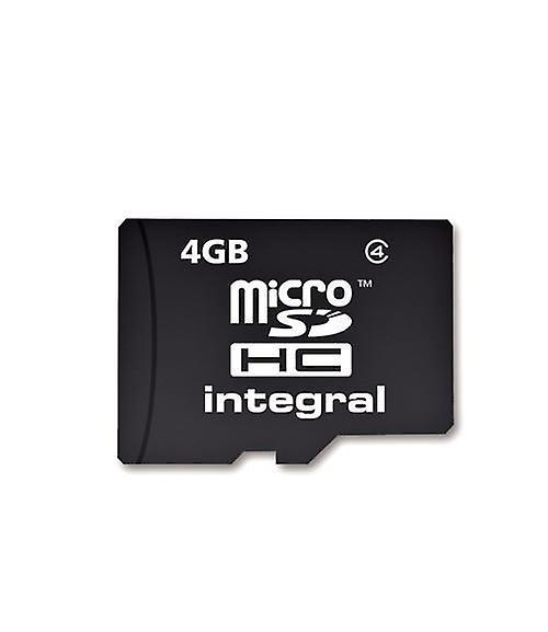 Integral Integrerad Micro SDHC Media minneskort med SD adapter kapacitet 4GB (MICROSD4GB)