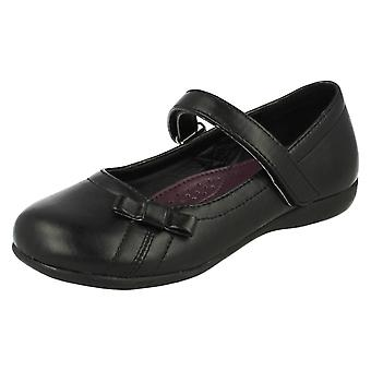 Girls Cool For School Bow Detail School Shoes