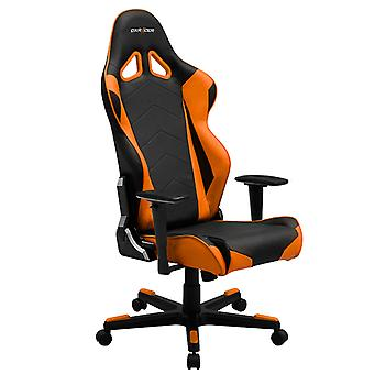 DX Racer DXRacer OH/RE0/NO High-Back Racing Office Chair Video Rocker Gaming chair PU(Black/Orange)