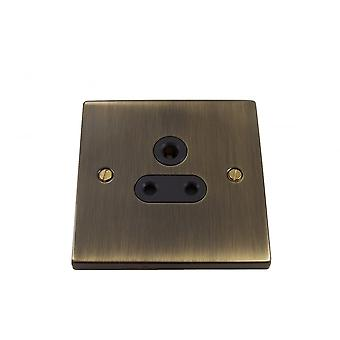 Causeway 1 Gang 5A DP Round Pin Socket, Antique Brass