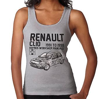 Haynes Owners Workshop Manual Renault Clio Black Women's Vest