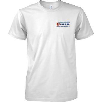 Cuba país Grunge efecto de nombre de bandera - niños pecho diseño camiseta