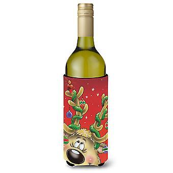 Sarjakuva poro sisustettu kaviot Viini pullo juoma eriste Hugger