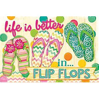 Life is Better in Flip Flops Poster Print by Mollie B (18 x 12)