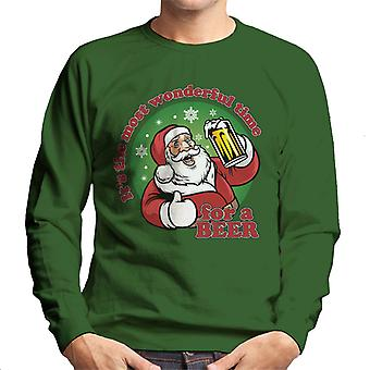 Christmas Its The Most Wonderful Time For A Beer Men's Sweatshirt