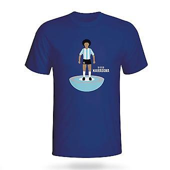 Diego Maradona Argentina Subbuteo Tee (Marinha)