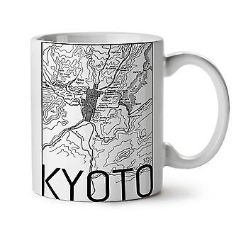 Kyoto City Map Fashion NEW White Tea Coffee Ceramic Mug 11 oz | Wellcoda