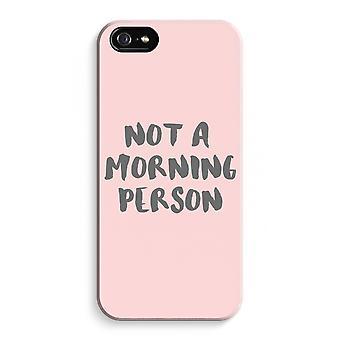 iPhone 5C koko Tulosta tapauksessa (kiiltävä) - aamulla henkilö