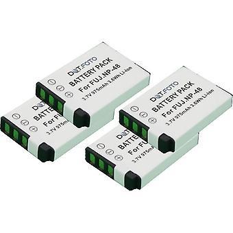 4 x Dot.Foto Fujifilm NP-48 udskiftningsbatteri - 3.6v / 975mAh