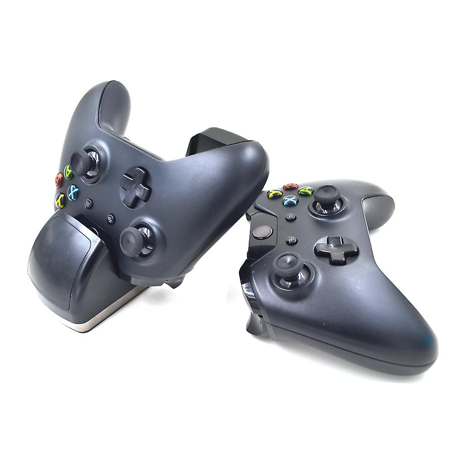 REYTID Dual Controller Charging Dock Compatible with Xbox One X Slim - Includes 2 Rechargeable Batteries - Cradle Port Battery