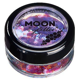 Glitter iridescenti grosso di luna Glitter – 100% Glitter cosmetici per viso, corpo, unghie, capelli e labbra - 3G - viola